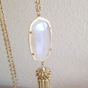 Kendra Scott Iridescent Slate Rayne necklace